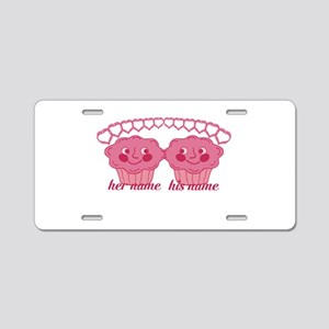 Personalized Cuddle Muffins Aluminum License Plate