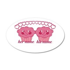 Personalized Cuddle Muffins Wall Decal