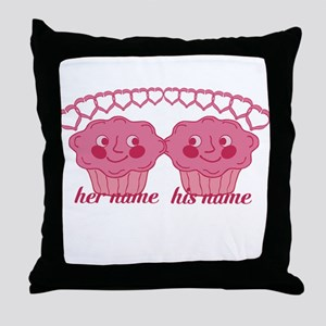 Personalized Cuddle Muffins Throw Pillow