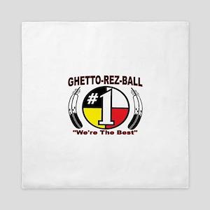 """GHETTO REZ-BALL """"We're The Best"""" Queen Duvet"""