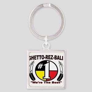 """GHETTO REZ-BALL """"We're The Best"""" Keychains"""