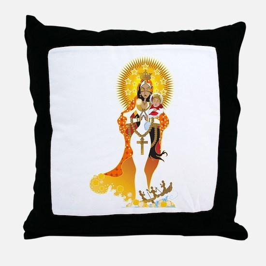 La Virgen de la Caridad del Cobre Throw Pillow