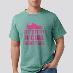 I Run Like a Girl Mens Comfort Colors Shirt