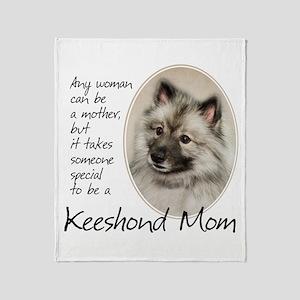 Keeshond Mom Throw Blanket