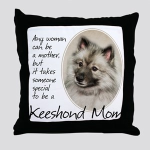 Keeshond Mom Throw Pillow