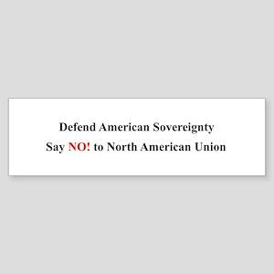 """Defend American Sovereignty"" Bumper Sticker"