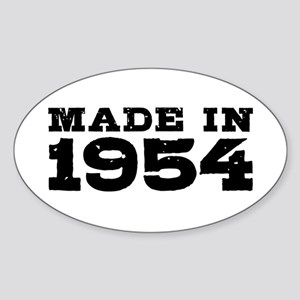 Made In 1954 Sticker (Oval)