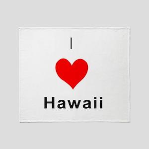 I heart Hawaii Throw Blanket