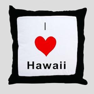 I heart Hawaii Throw Pillow