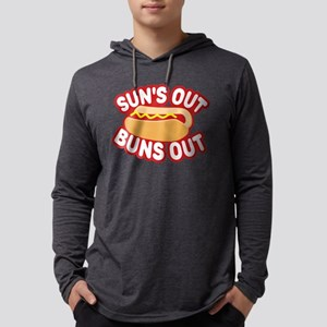 Sun's Out Buns Out Mens Hooded Shirt