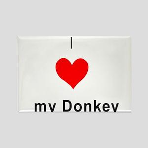 I heart Donkey Rectangle Magnet