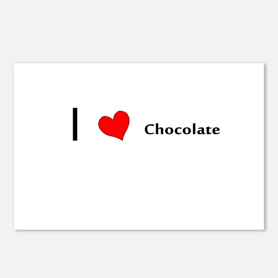 I heart Chocolate Postcards (Package of 8)