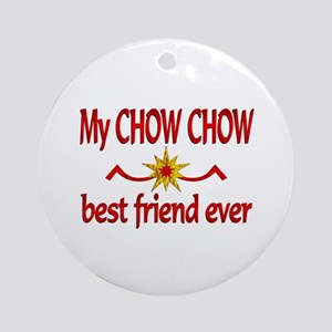 Chow Chow Best Friend Ornament (Round)