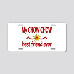 Chow Chow Best Friend Aluminum License Plate