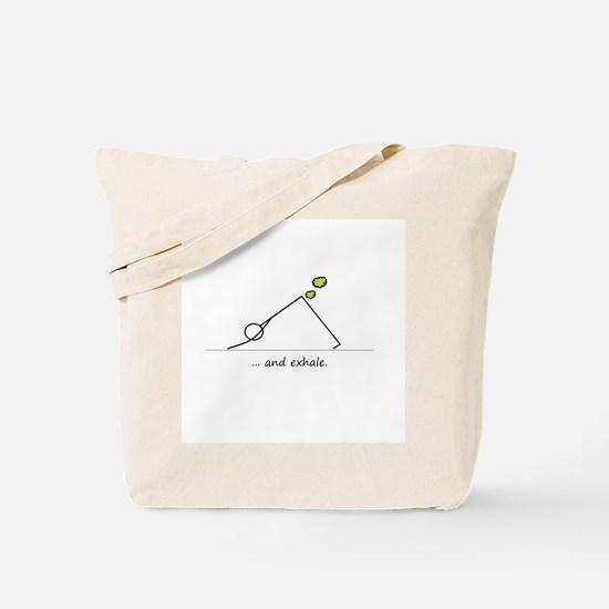 Yoga Exhale Tote Bag