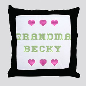 Grandma Becky Throw Pillow