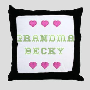 Grandma Becky Throw Pillow