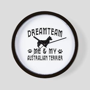 Australian Terrier Dog Designs Wall Clock