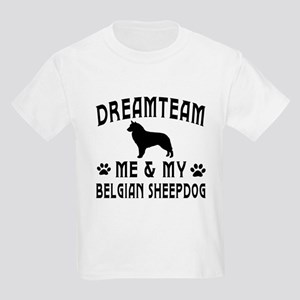 Belgian Sheepdog Dog Designs Kids Light T-Shirt