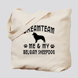 Belgian Sheepdog Dog Designs Tote Bag