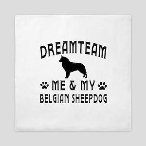 Belgian Sheepdog Dog Designs Queen Duvet