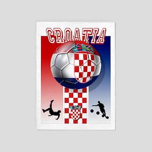 Croatian Football 5'x7'Area Rug