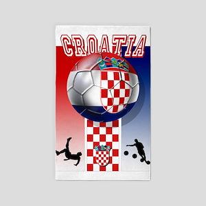 Croatian Football 3'x5' Area Rug
