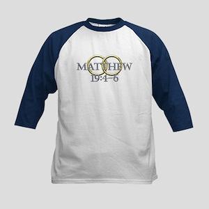 Matthew 19:4-6 Kids Baseball Jersey