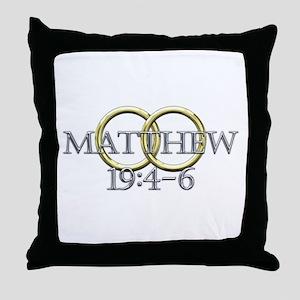 Matthew 19:4-6 Throw Pillow