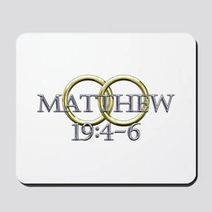 Matthew 19:4-6 Mousepad