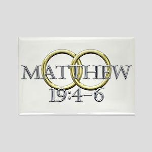 Matthew 19:4-6 Rectangle Magnet