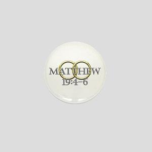 Matthew 19:4-6 Mini Button