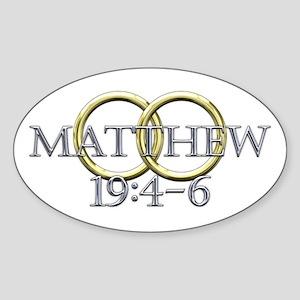 Matthew 19:4-6 Sticker (Oval 10 pk)