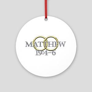 Matthew 19:4-6 Ornament (Round)