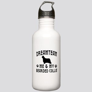 Bearded Collie Dog Designs Stainless Water Bottle