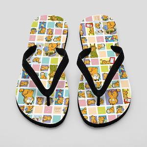 4f8181f9ae2c15 Classic Garfield Squares Flip Flops
