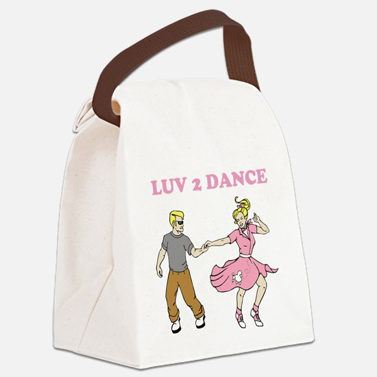 LUV 2 DANCE Canvas Lunch Bag