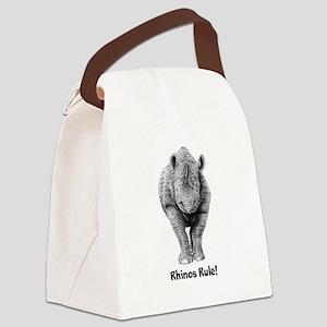 Rhinos Rule! Canvas Lunch Bag