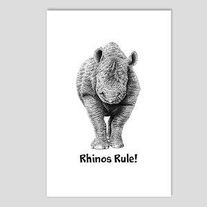 Rhinos Rule! Postcards (Package of 8)