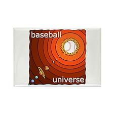 Baseball Universe Rectangle Magnet