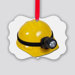HardHatWithLamp102811 Picture Ornament