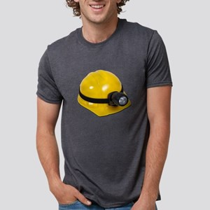 HardHatWithLamp102811 Mens Tri-blend T-Shirt