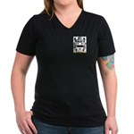 Bleazby Women's V-Neck Dark T-Shirt