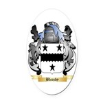 Bleazby Oval Car Magnet