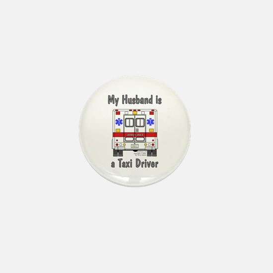 Taxi Driver Husband Mini Button