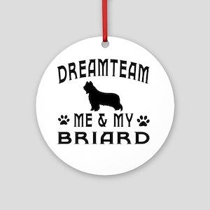 Briard Dog Designs Ornament (Round)