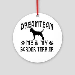 Border Terrier Dog Designs Ornament (Round)
