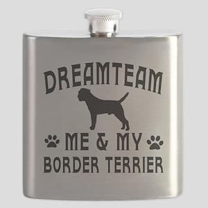 Border Terrier Dog Designs Flask