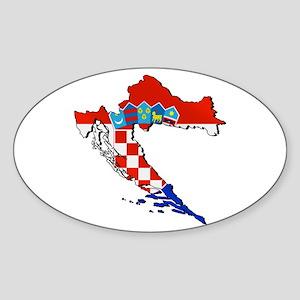Flag Map of Croatia Sticker