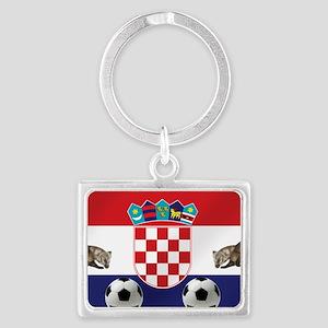 Croatian Football Flag Keychains